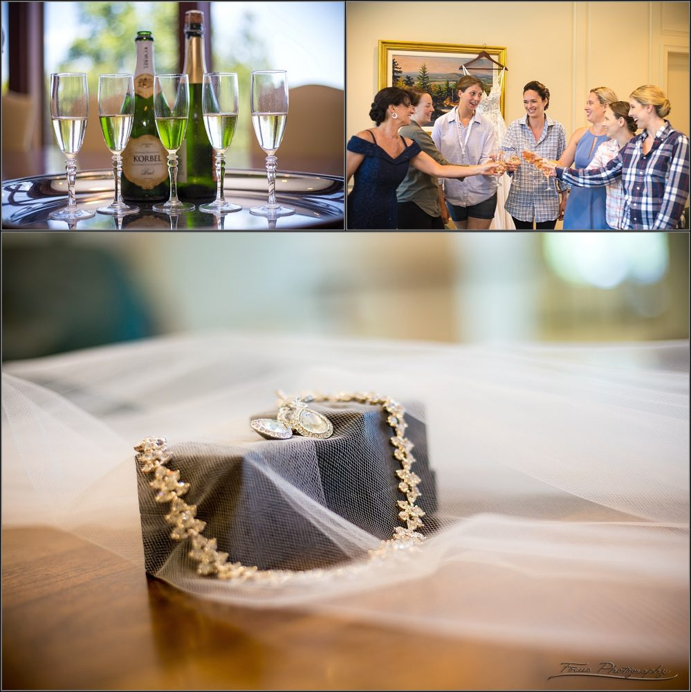 wedding details for bride and maids