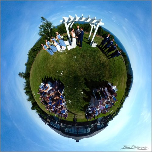 Little planet image captured at point lookout wedding