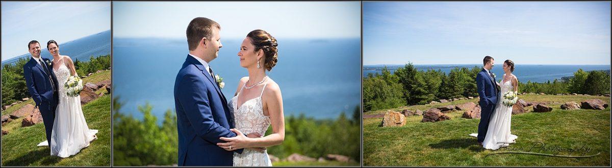 wedding couple romantics at point lookout