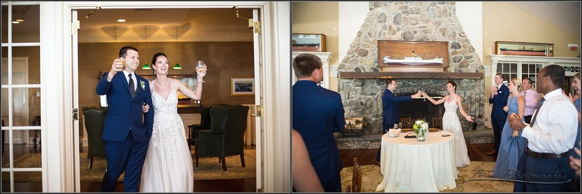 bride and groom entrance to ballroom at point lookout summit