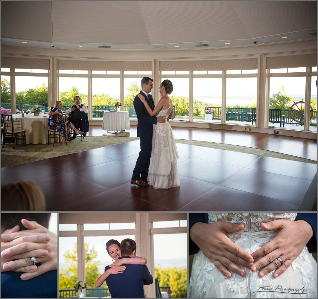 first dance picture at maine wedding