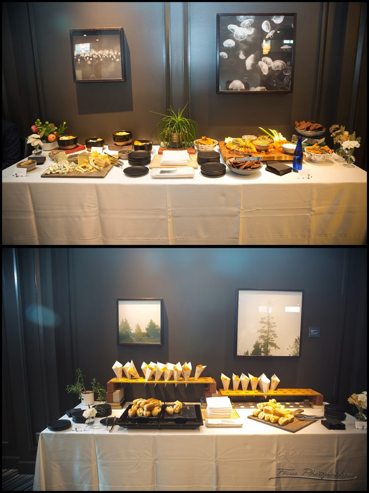 food at press hotel wedding