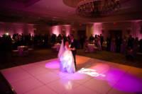 White dance floor in ballroom