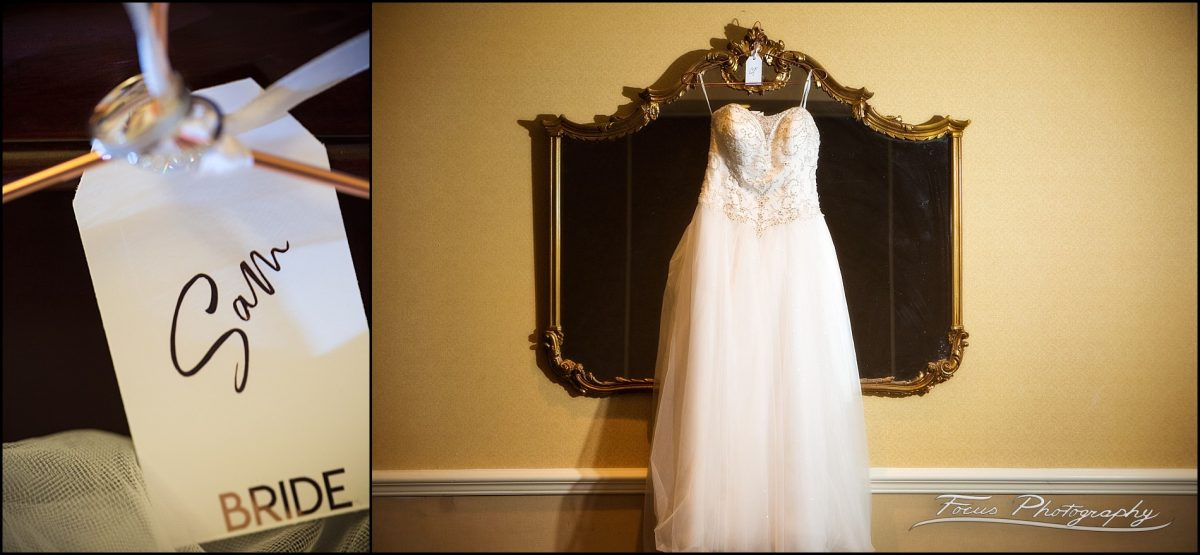 Sam & Steve's Wentworth Wedding - bride's dress and tag