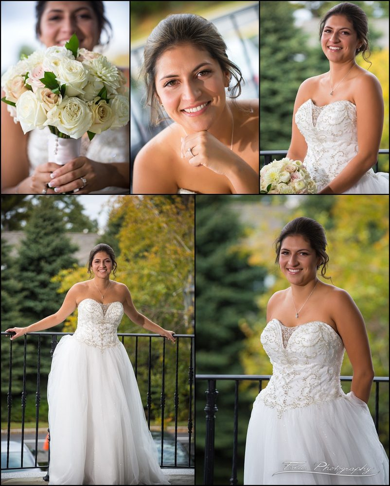Sam & Steve's Wentworth Wedding - Collage of bride portraits