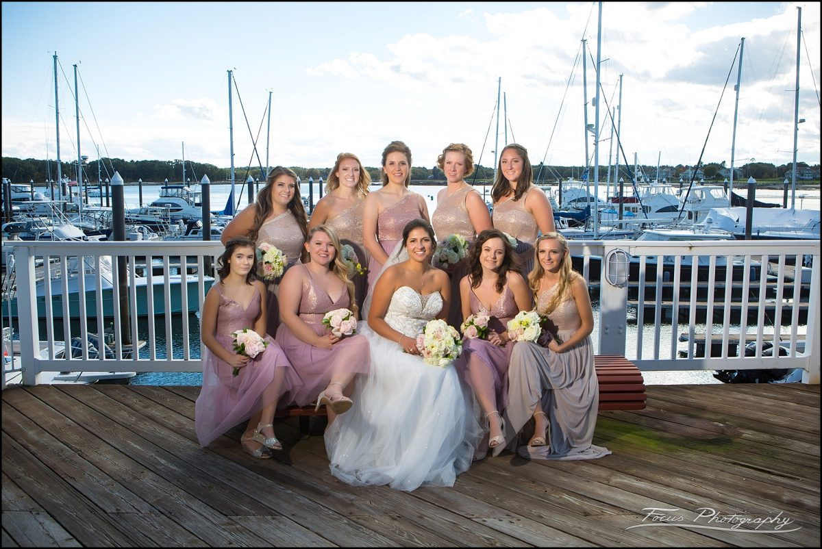 Sam & Steve's Wentworth Wedding - bridesmaids at marina