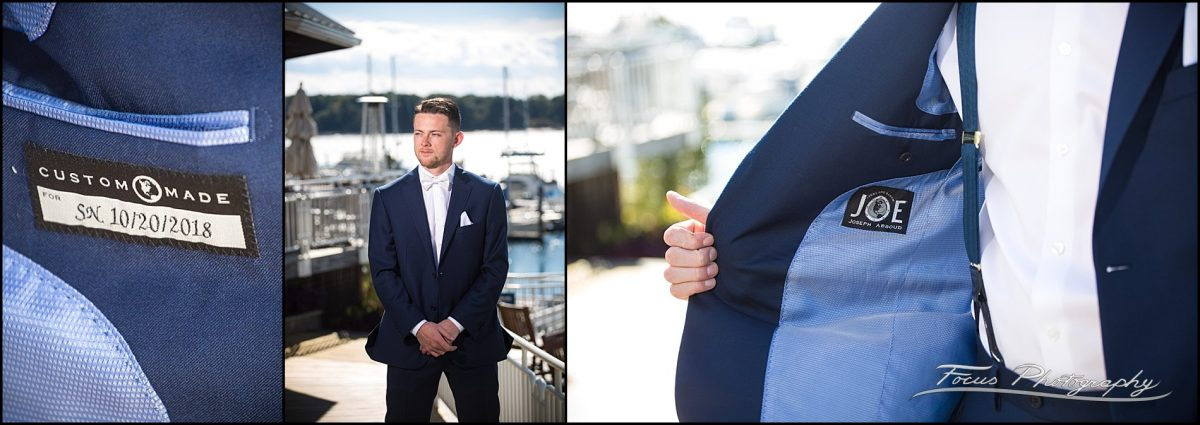 Sam & Steve's Wentworth Wedding - Joseph Aboud suit