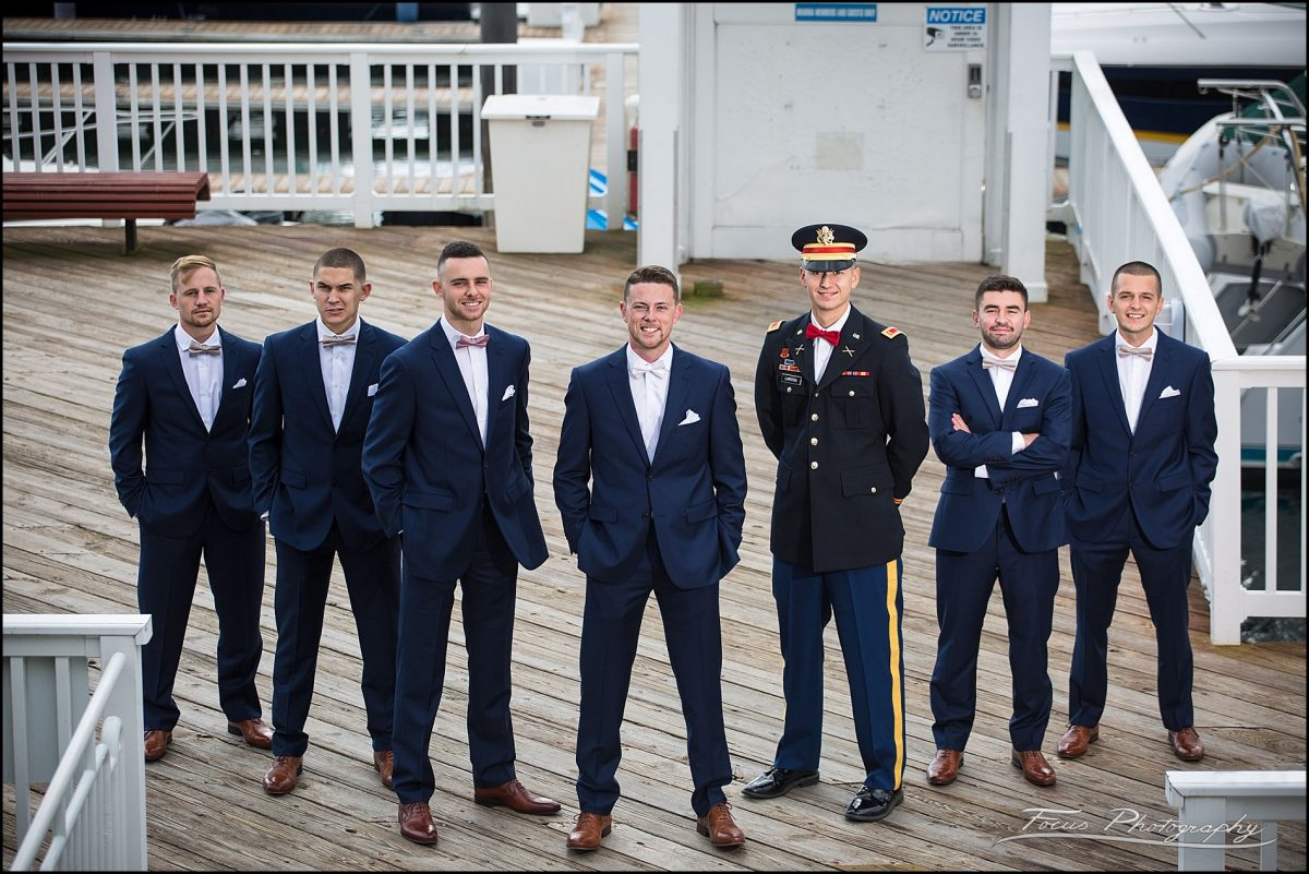 Sam & Steve's Wentworth Wedding - groom and his guys