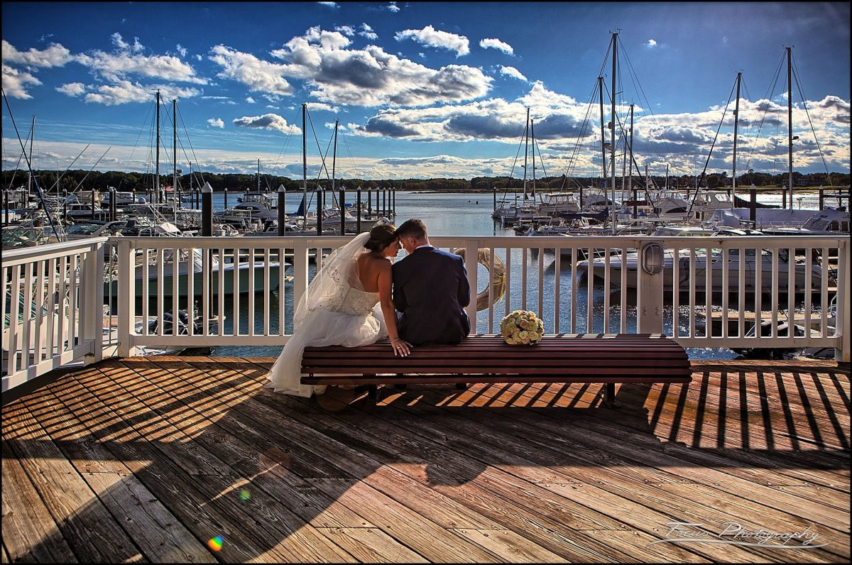 Sam & Steve's Wentworth Wedding - couple at marina