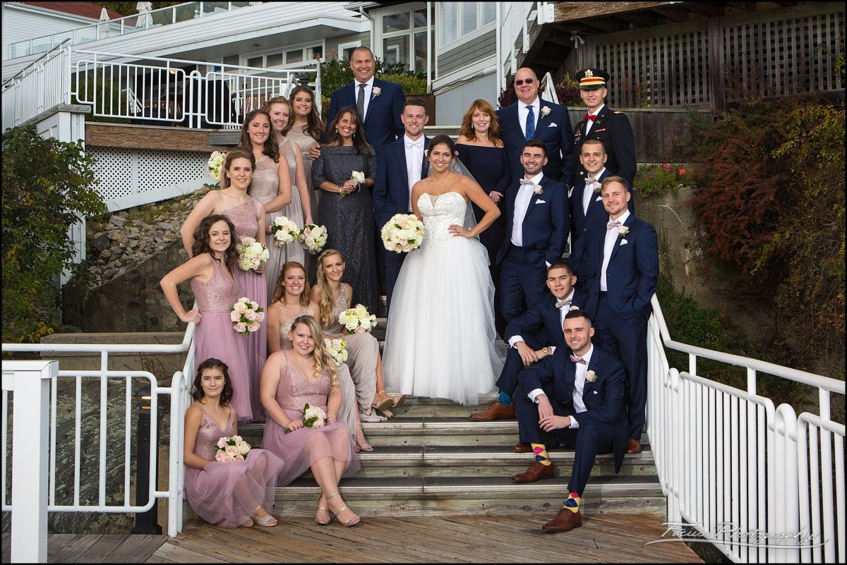Sam & Steve's Wentworth Wedding - group shot