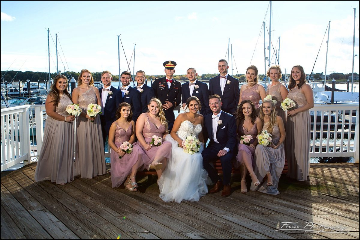 Sam & Steve's Wentworth Wedding - wedding party at marina