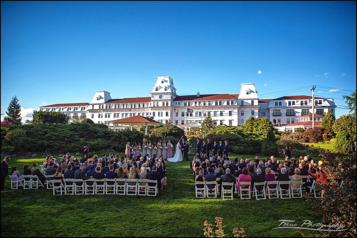 Sam & Steve's Wentworth Wedding - ceremony on back lawn