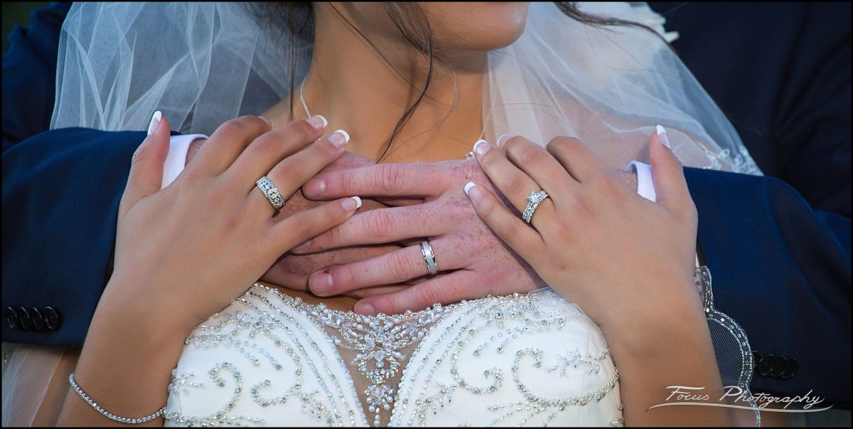 Sam & Steve's Wentworth Wedding - wedding rings on hands