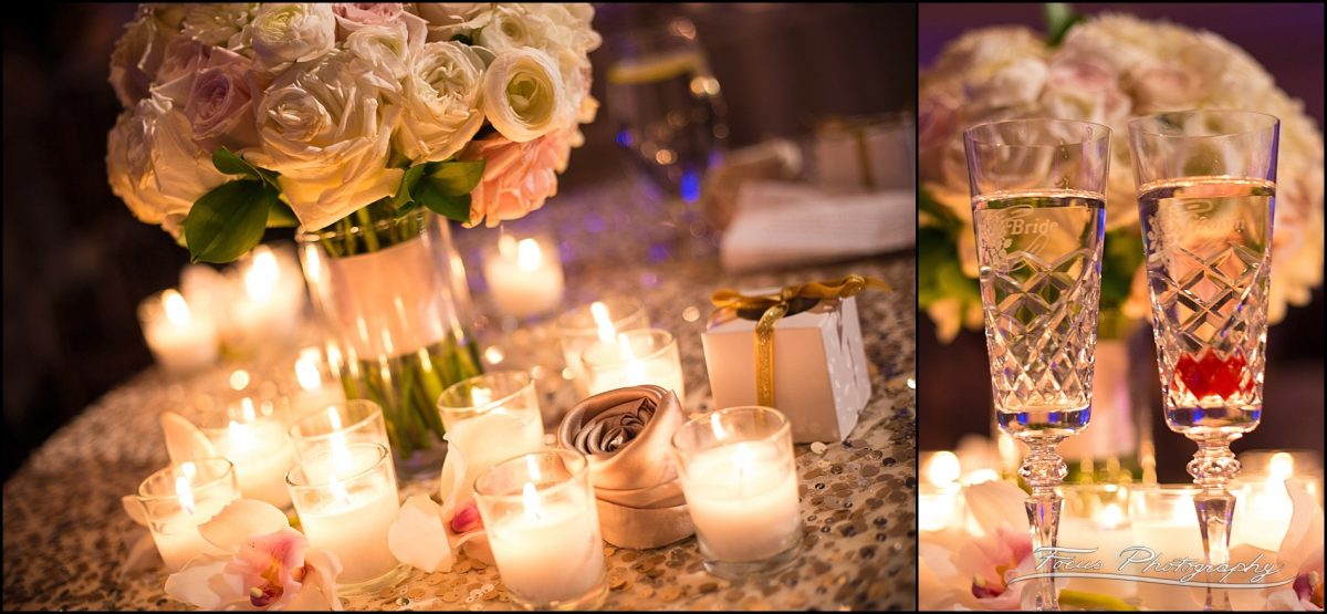 Sam & Steve's Wentworth Wedding - candles and glasses