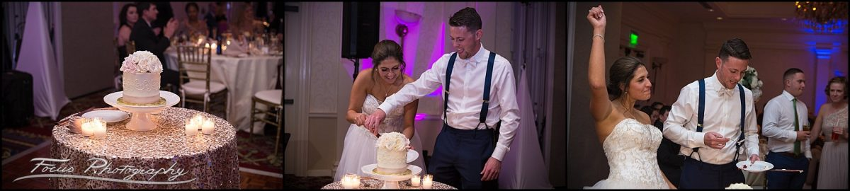 Sam & Steve's Wentworth Wedding - cake cutting