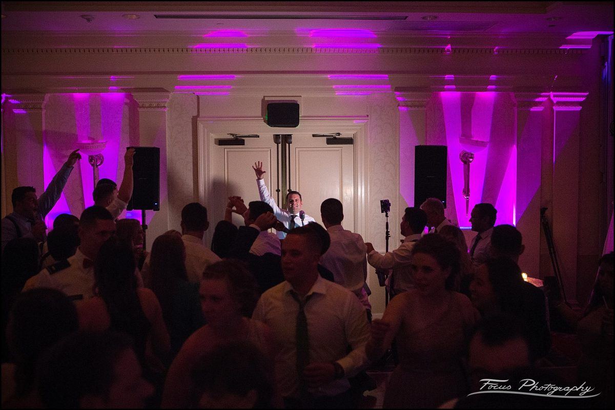 Sam & Steve's Wentworth Wedding - dj across room