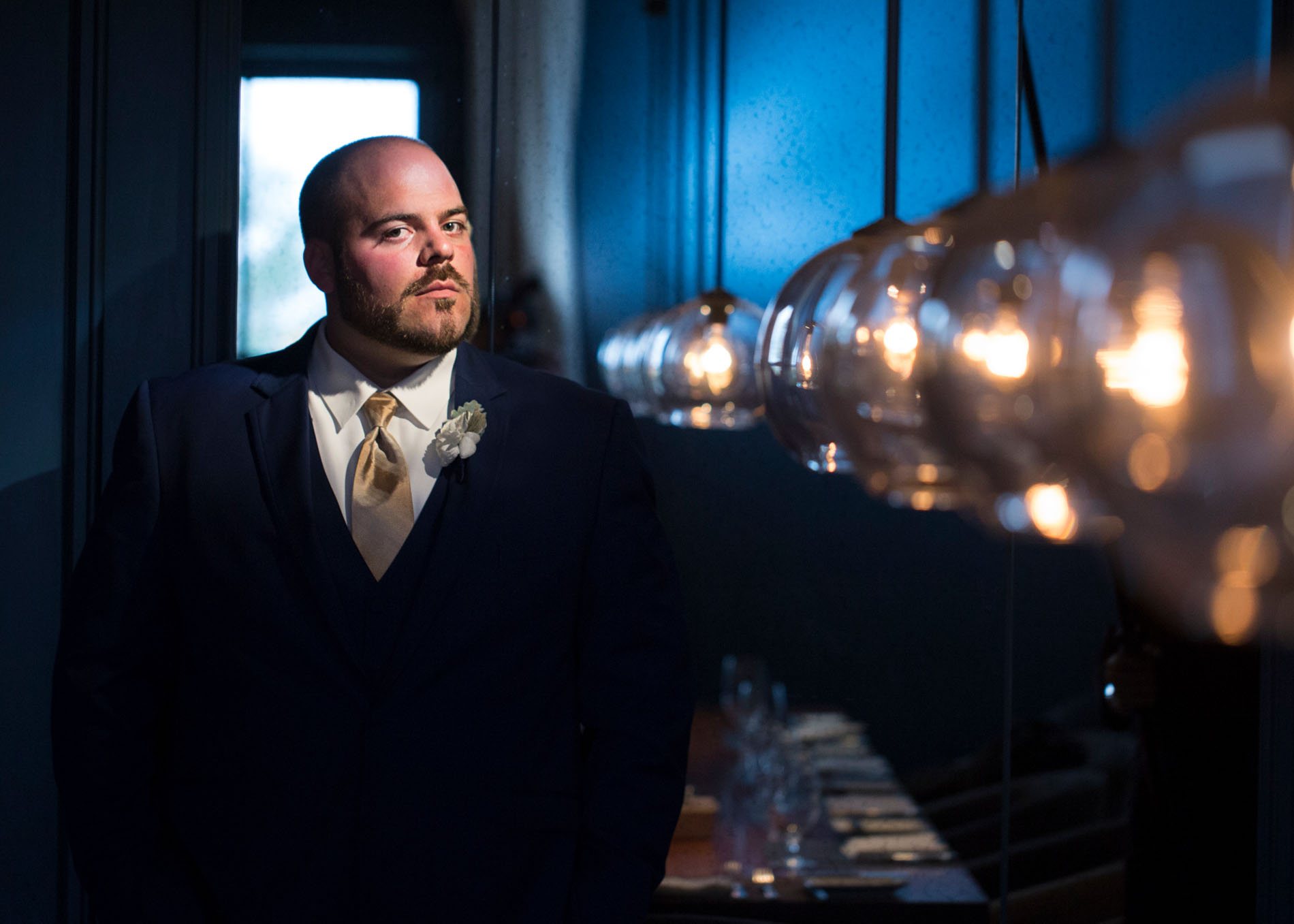 Favorite Wedding Pictures from Wentworth - groom in spotlight