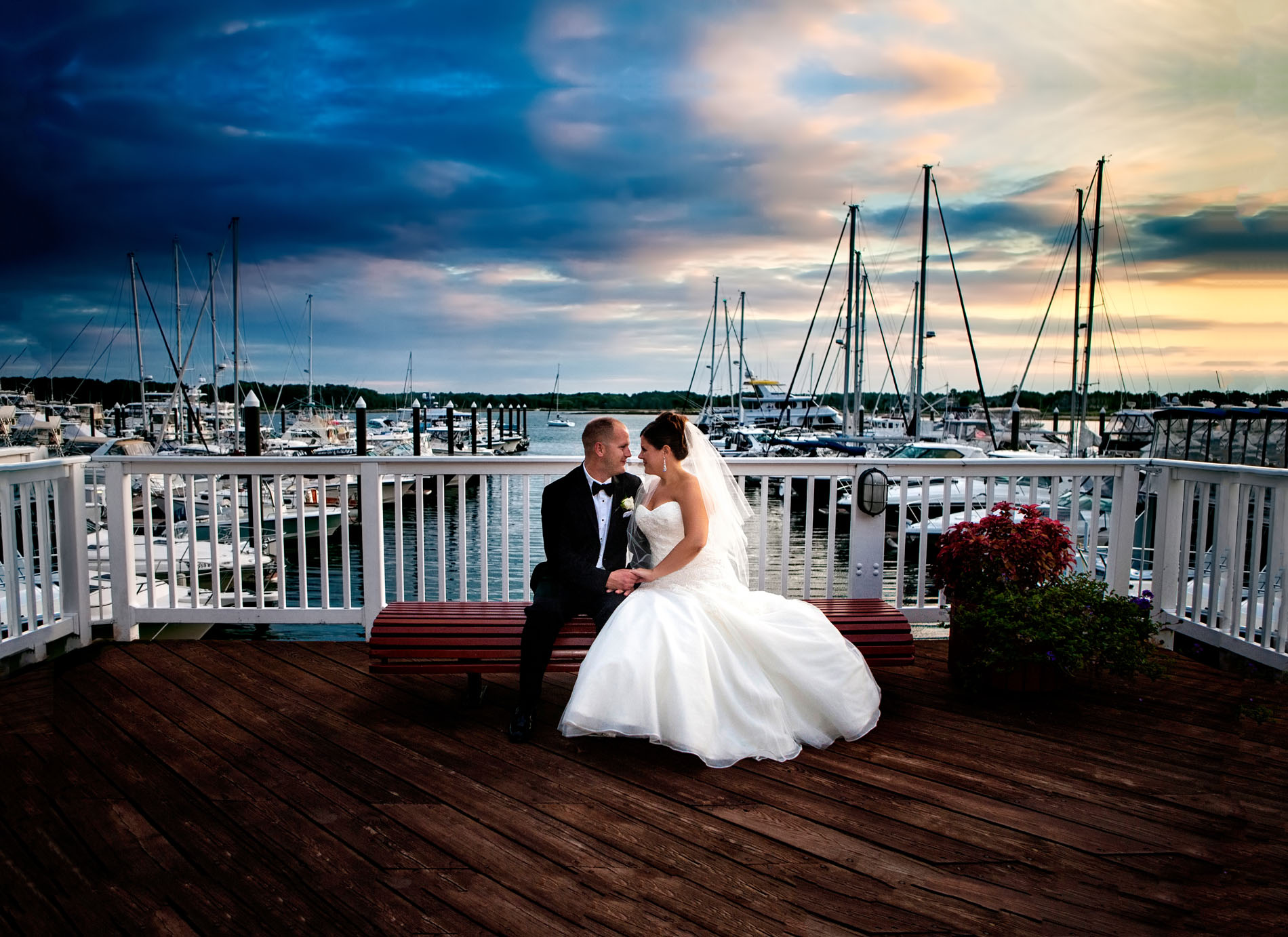 Favorite Wedding Pictures from Wentworth - couple at Marina