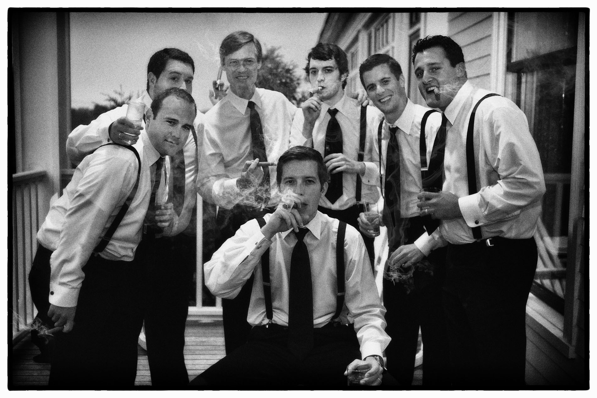 Favorite Wedding Pictures from Wentworth - men smoking cigars