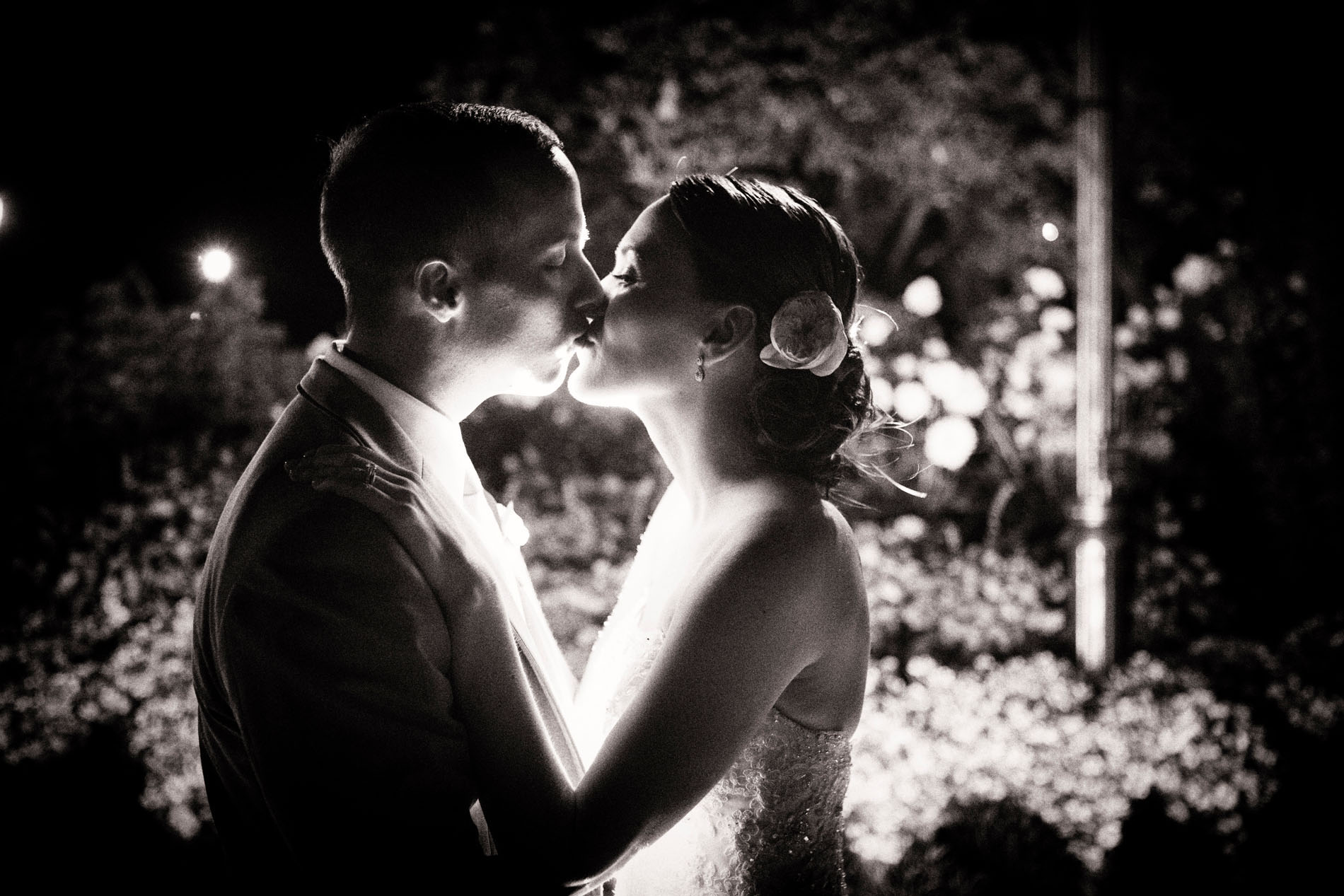 Favorite Wedding Pictures from Wentworth - couple kissing in the garden