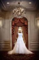 The wedding dress on a field trip