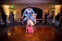 You never know what bridal parties will do during entrances.  But this was a really good leapfrog.