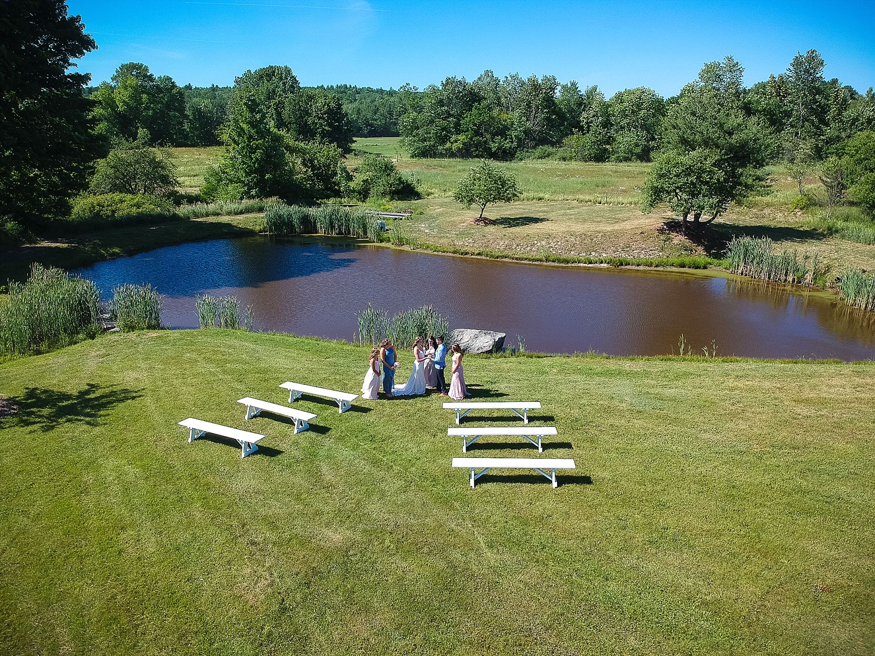 Ceremony down by the pond