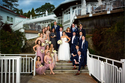 Family portrait at Wentworth by the Sea wedding