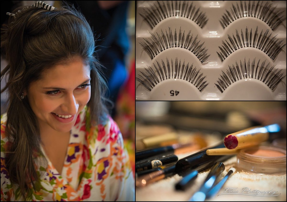 Lashes and makeup brushes for Sam's big day