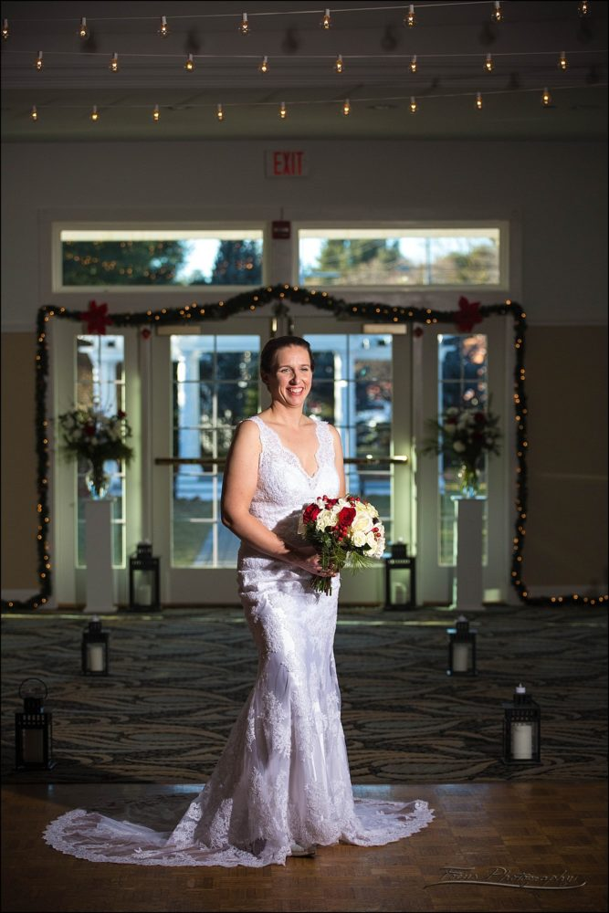 Bridal portrait at  Village by the Sea wedding in Wells, Maine