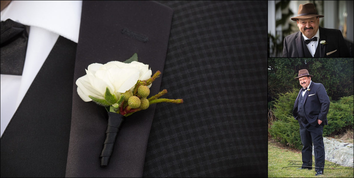 tuxedo detail at Wentworth by the Sea wedding