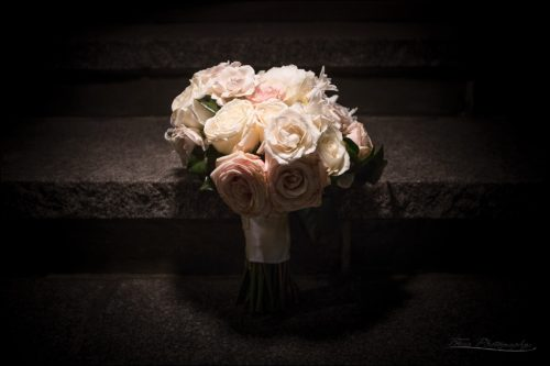 bouquet at end of night