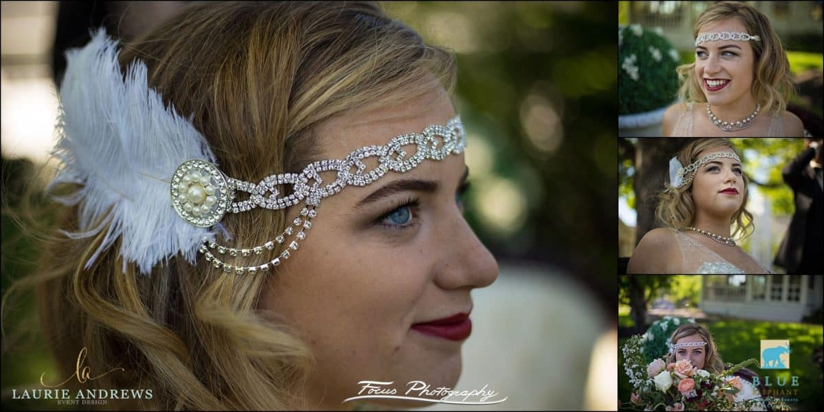 twenties style bridal head piece