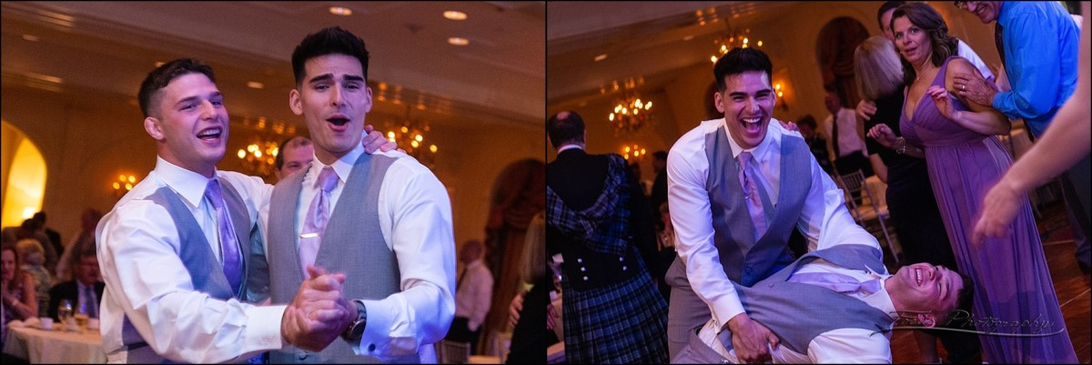 brothers dancing at this Wentworth by the Sea wedding