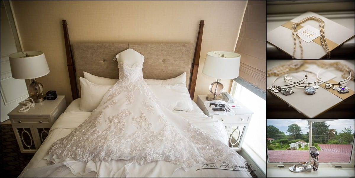 Wedding dress  and bride's accessories