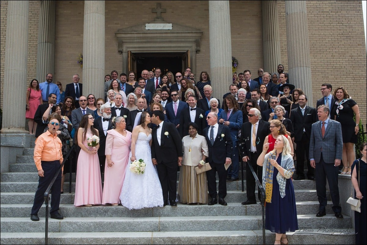 group picture on steps of church