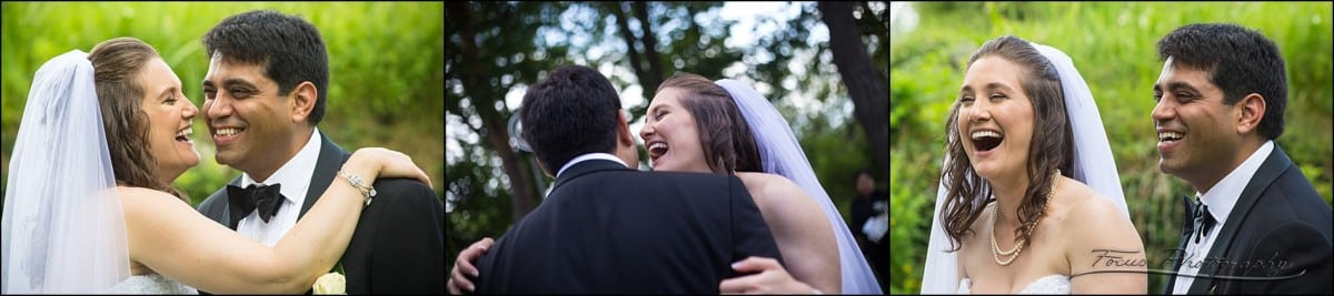 couple laughs during pictures