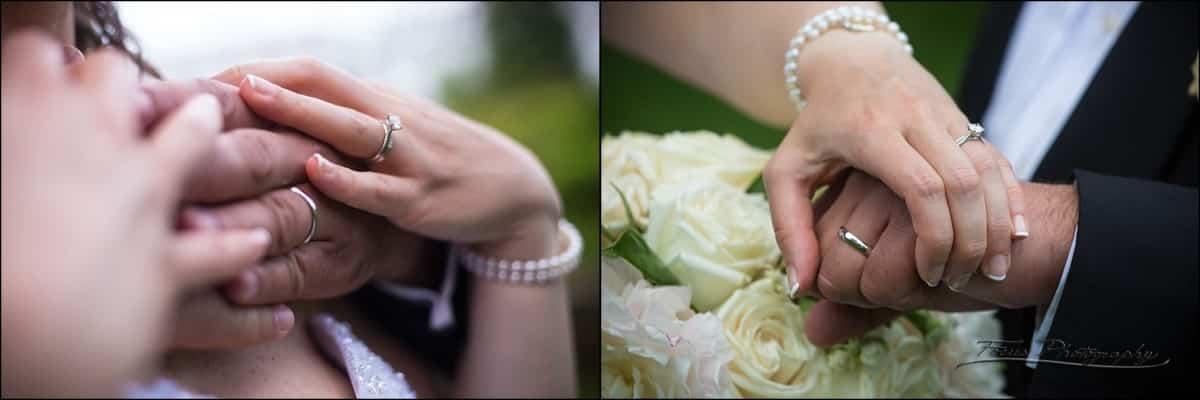 ring shots at wedding