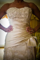 154 wedding dress and shoes