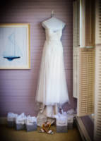 155 wedding dress and shoes