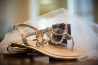 157 wedding dress and shoes