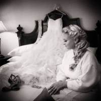 162 wedding dress and shoes