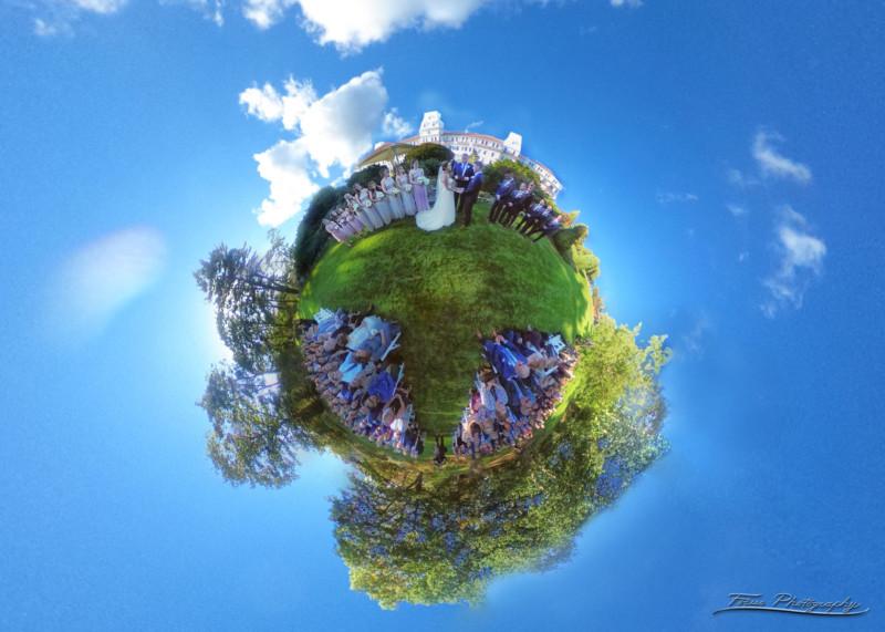A 'Little Planet' Ceremony Shot