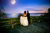 Looking out on the Ocean at the Samoset Resort Wedding