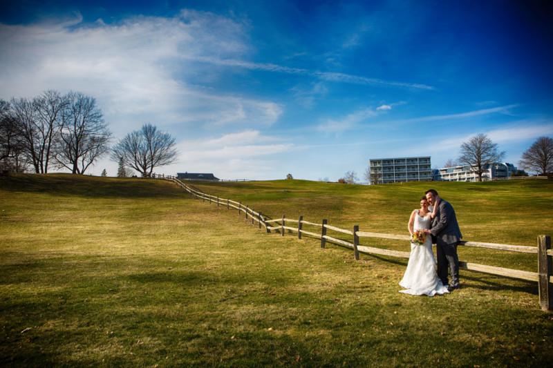 scenic wedding portraits of couple