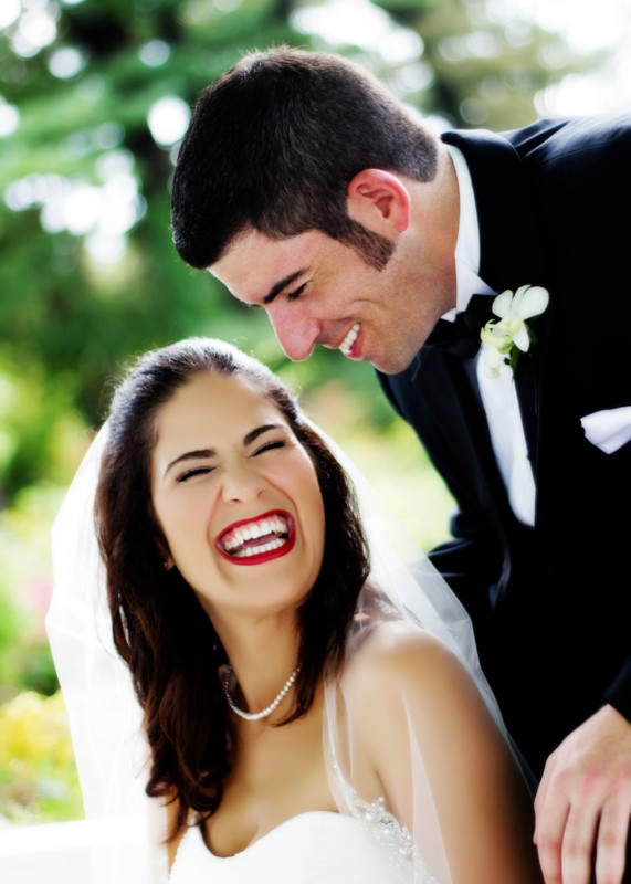 candid portraits of bride and groom at wedding