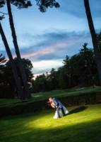 534 wedding couple portraits twilight