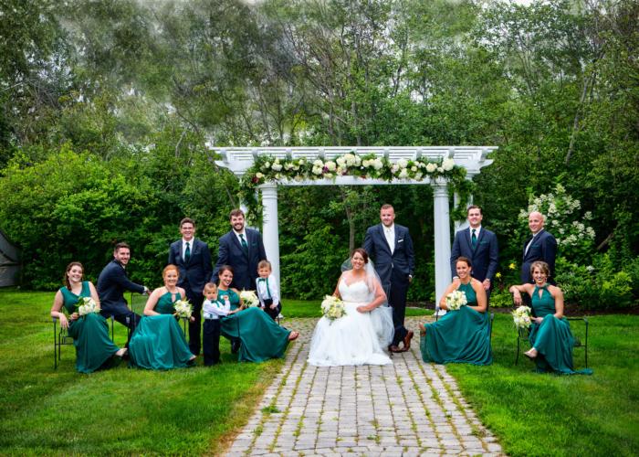 complete wedding party portrait