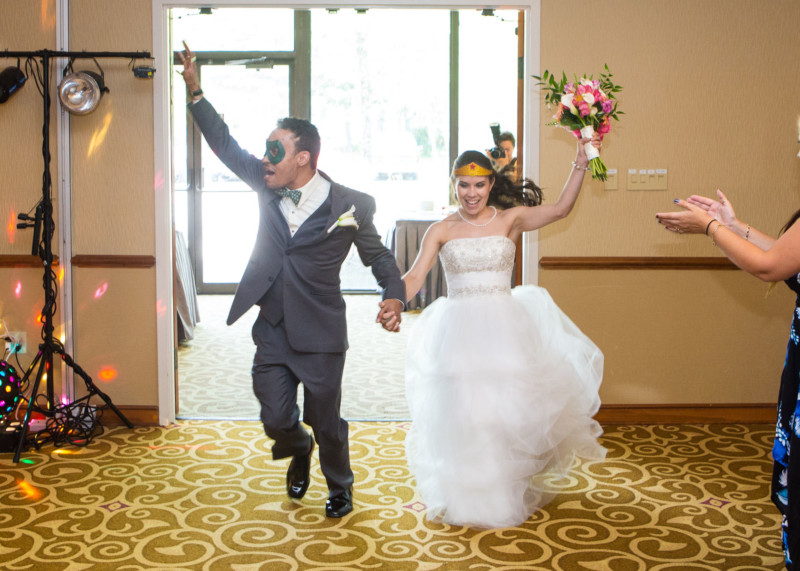 wedding toasts and entrances