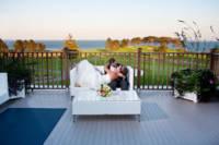 wedding couple on samoset deck